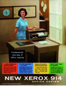 první TV reklama na produkt společnosti Xerox